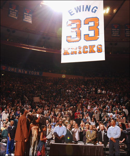 Raising his number to the rafters
